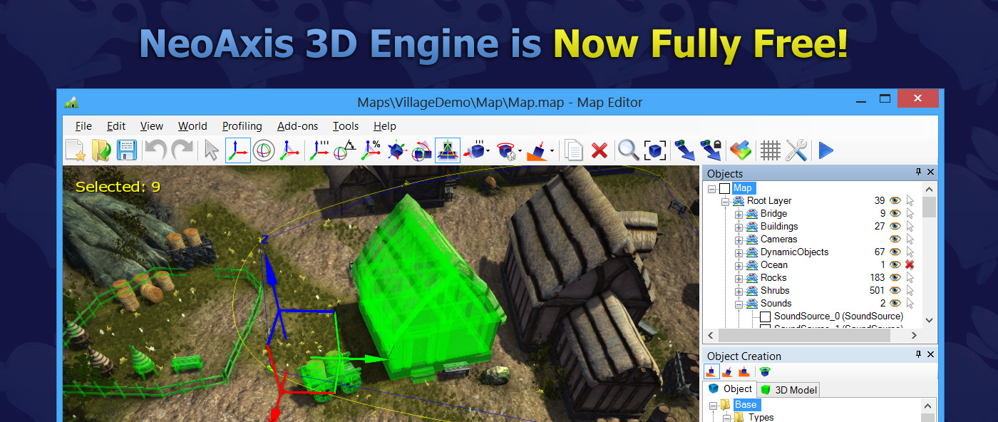 Neoaxis ogre open source 3d graphics engine neoaxis3dengineisnowfullyfree1400 gumiabroncs Images
